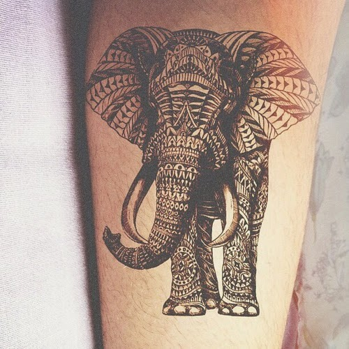 Small elephant tattoos