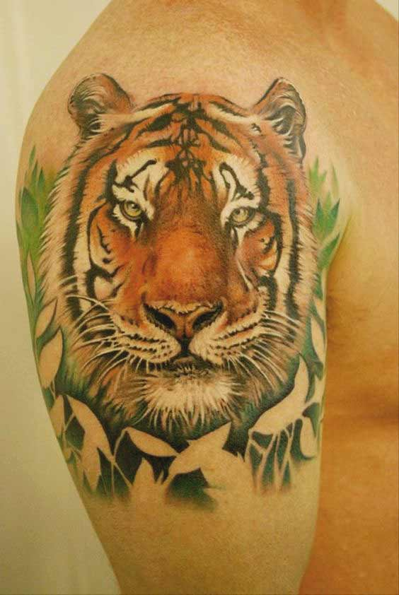 50 really amazing tiger tattoos for men and women. Black Bedroom Furniture Sets. Home Design Ideas