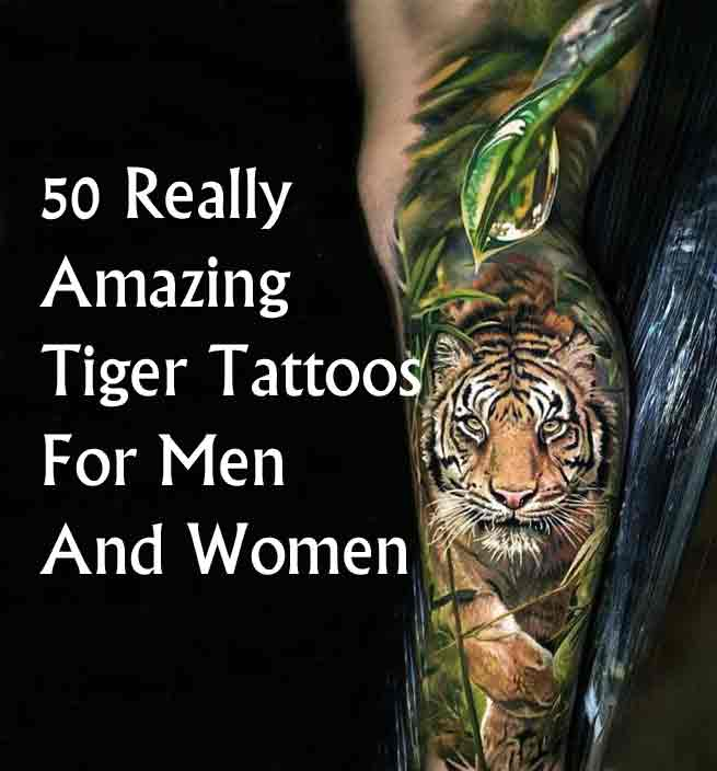 50 Amazing Tattoo Designs For Men: 50 Really Amazing Tiger Tattoos For Men And Women