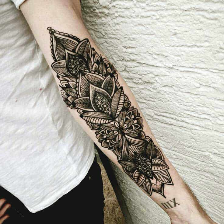 Cool Inner forearm tattoos for girls
