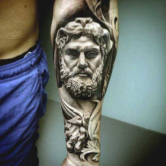 portrait inner forearm tattoo ideas