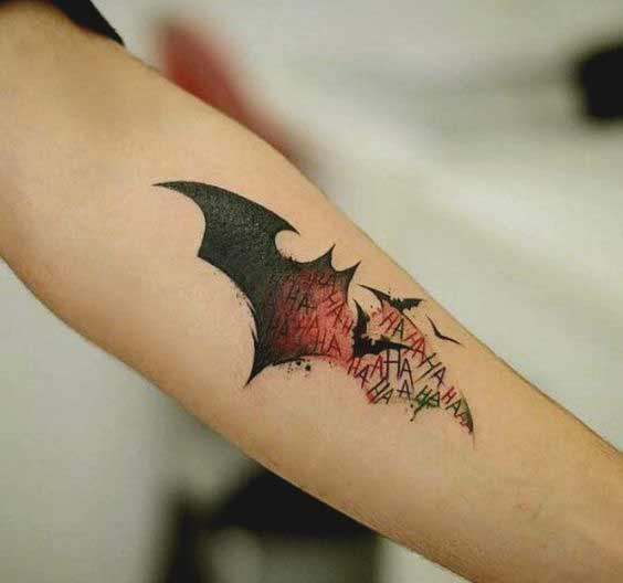 Small batman forearm tattoo ideas