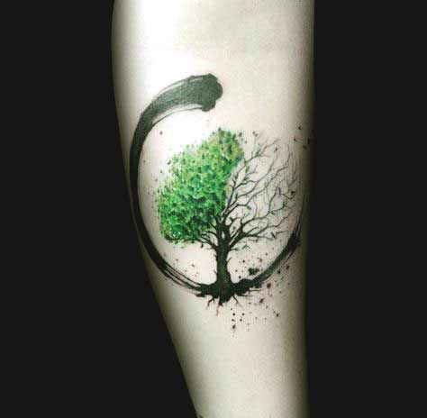 Small Tree forearm tattoos
