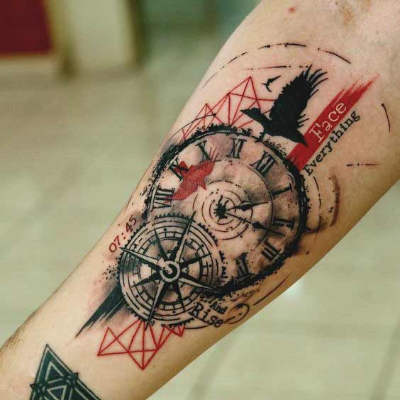 mens forearm tattoos