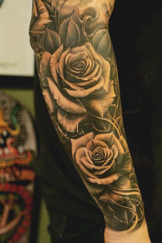 rose tattoo designs for forearms