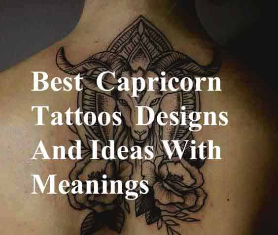618c612b0 38 Best Capricorn Tattoos Designs And Ideas With Meanings