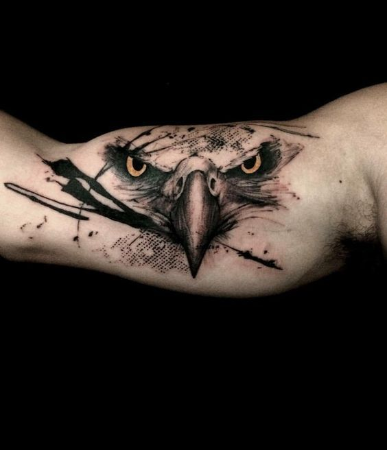 3d eagle beak tattoos designs