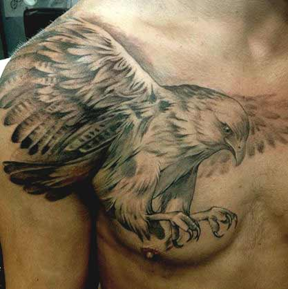 Elegant flying eagle tattoos