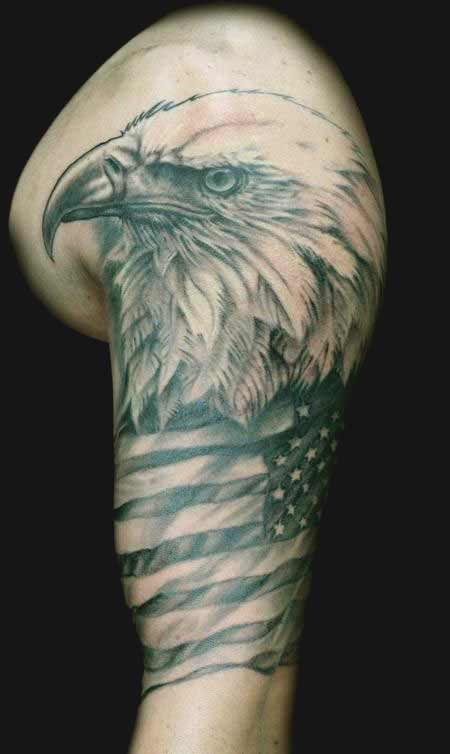 Bald eagle face tattoos designs