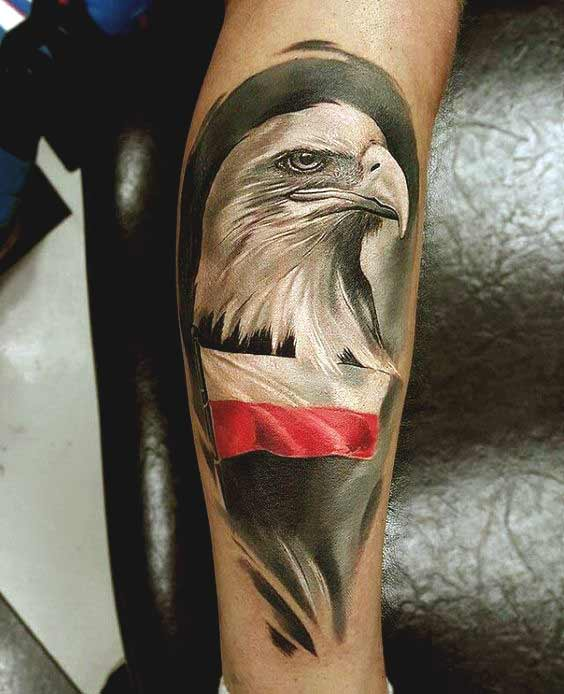 Beautiful eagle face tattoos