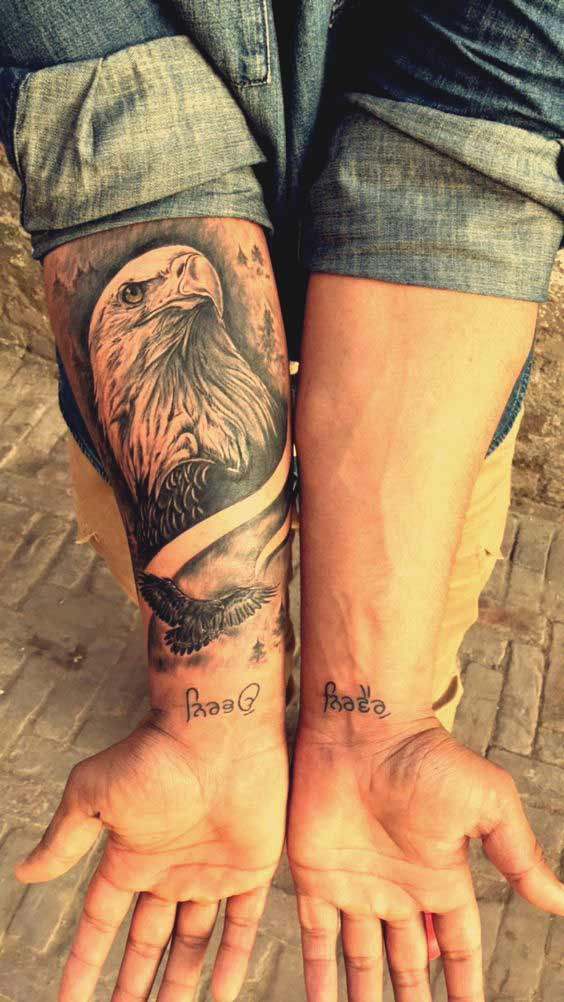 Bald eagle tattoo designs