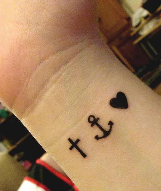 45 Perfectly Cute Faith Hope Love Tattoos And Designs With Best ...