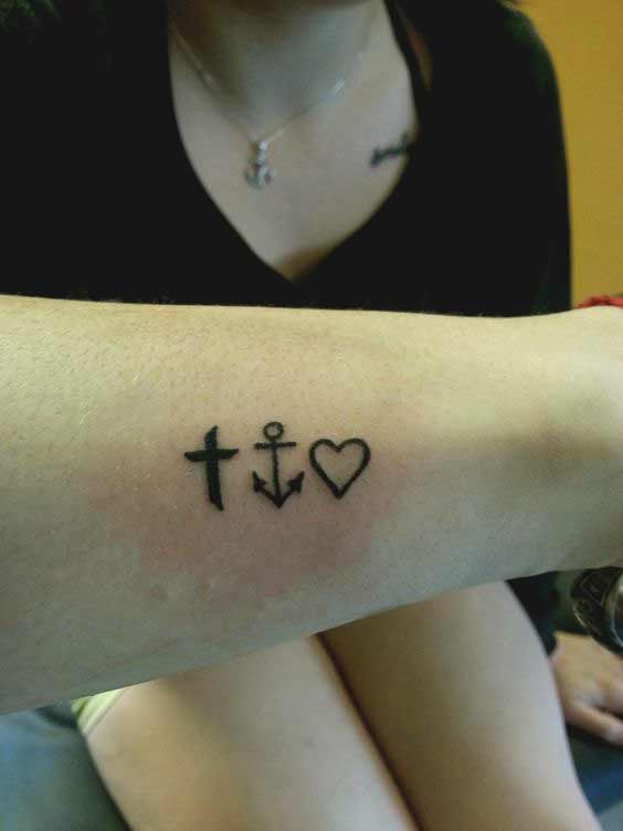 45 Perfectly Cute Faith Hope Love Tattoos And Designs With Best