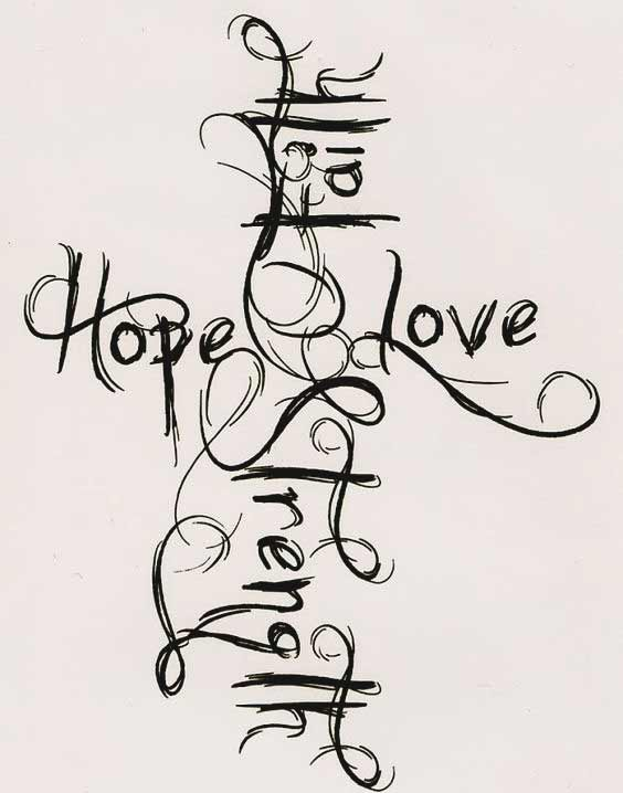 b7ce1160e 45 Perfectly Cute Faith Hope Love Tattoos And Designs With Best ...