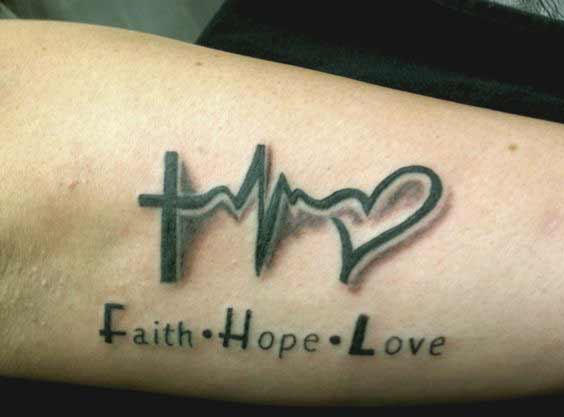 45 Perfectly Cute Faith Hope Love Tattoos And Designs With ...