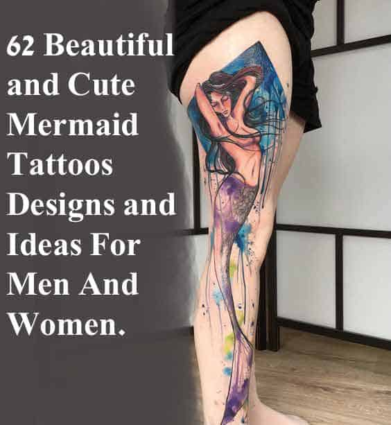 d4df1a183 62 Beautiful and Cute Mermaid Tattoos Designs and Ideas
