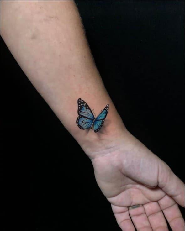 Wrist 3d Butterfly Tattoo Designs Tattoo Design