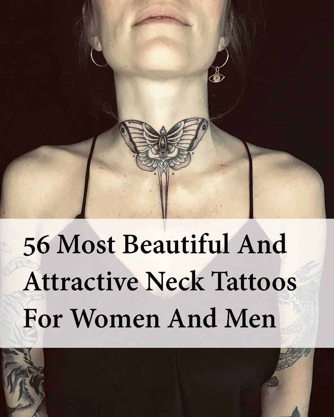 Neck Tattoos 50 Most Beautiful And Attractive Neck Tattoos
